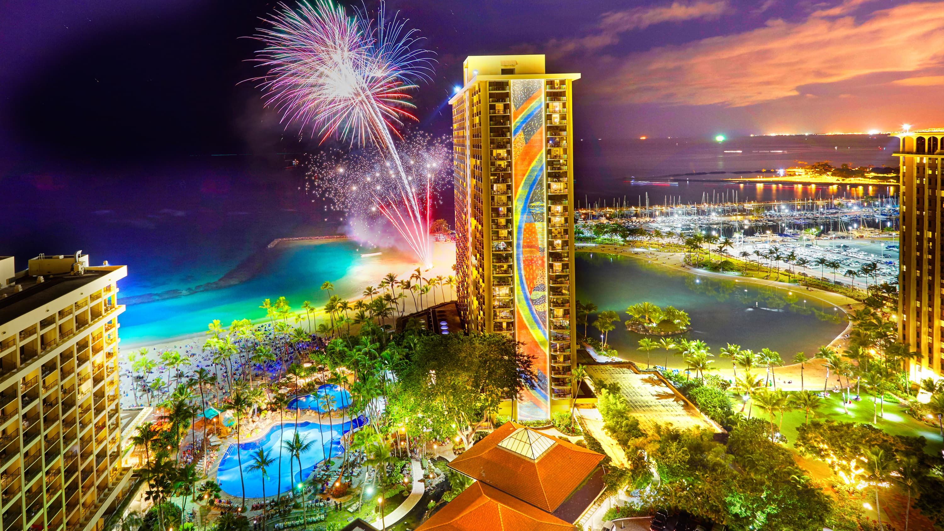 New Year's Eve at Hilton Hawaiian Village