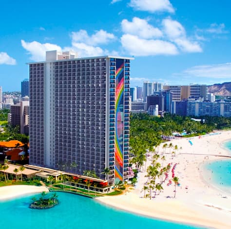 Beachfront Rainbow Tower