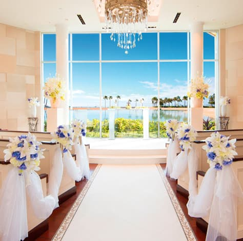 White Beach Wedding Chapel interior