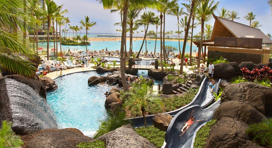 Pools at the Hilton Hawaiian VIllage